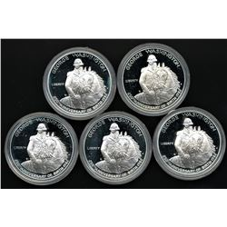 Lot of (5) 1982-S Commemorative George Washington Proof Silver Half Dollars