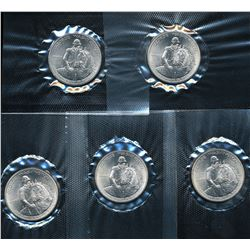 Lot of (5) 1982-D Commemorative George Washington Silver Half Dollars *SEALED*
