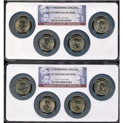 U.S. 2007- P & D Presidential Dollars NGC MS65 First Day of Issue