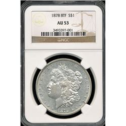 1878 8TF Morgan Dollar NGC AU53
