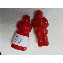 Americana Salt and Pepper Shakers