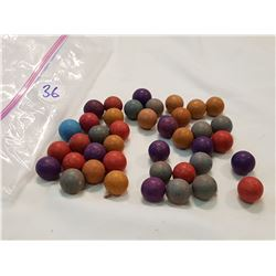 Clay Marbles Lot