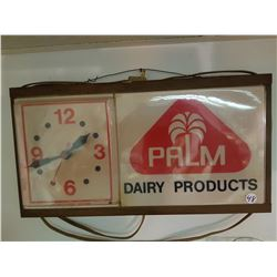 Palm Dairy Wall Clock