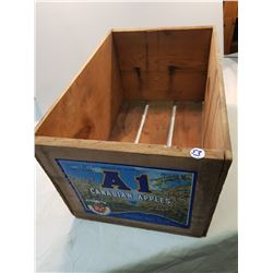 A-1 Apples Wood Crate