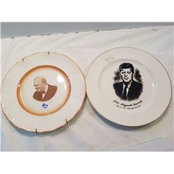 Churchill and Kennedy Collector Plates