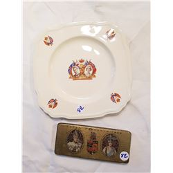 King George VI Plate and Tin