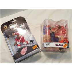 Gordie Howe + Steve Nash Figurines-Sealed