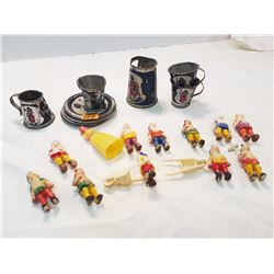 Snow White and the 7 Dwarfs Cake Toppers- Metal Childs Coffee Set