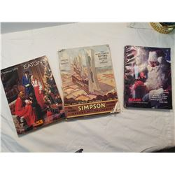 3 Catalogues / 2 xmas plus 1930 Simpson