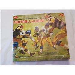 Canadian Prof.  Post Football Album-Only 1 Card Missing 1962-1963