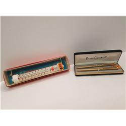 Pierre Cardin Pens and Thermometer