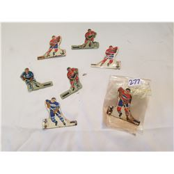 7 Tin Hockey Players For Table Top Game