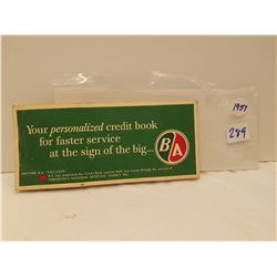 1957 B/A Personalized credit book