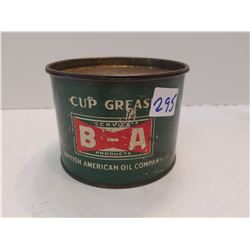 Old B/A Logo -Grease Can -Full
