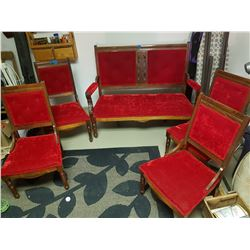 1900's Eastlake Love Seat and 4 chairs