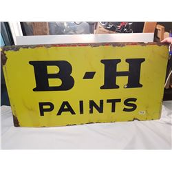 2 sided Porcelain BH Paint Sign 36x19""