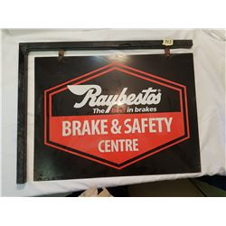 "Sign - 2 sided Raybesto Brake. 24x18"" without frame"