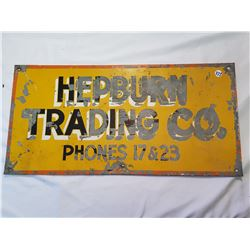 Hepburn Trading Co. Sign Low Phone # 24x12