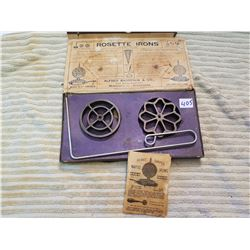 Rosette Irons Waffle Forms