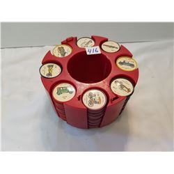200 Automobile Jello Coins With Stand