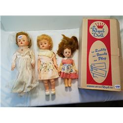Regal Box and three dolls