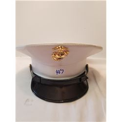 American US Marine Dress Hat With Badge
