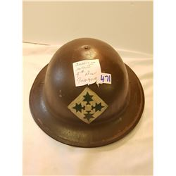 WW1 American 4th Division Helmet