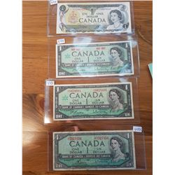 All Different 1954(2),1967,1973 $1 Notes