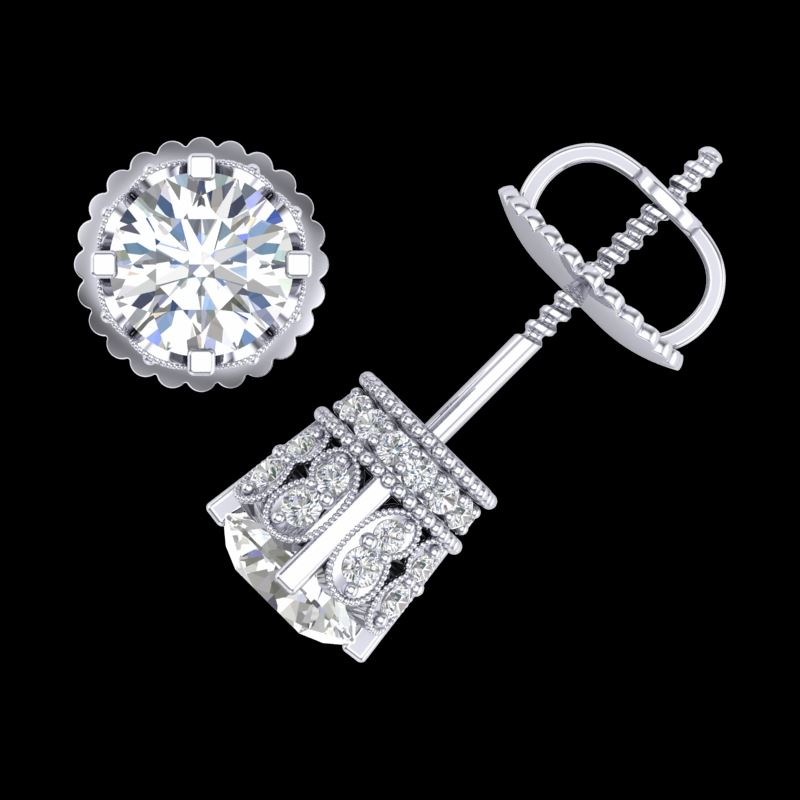 page silver clear zirconia sparkles stud plated collections cubic cz faux women fashion deco large art jewelry rhodium pave clotida beloved studs earring shape earrings new diamond friction post daily