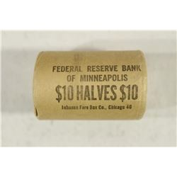 $10 ROLL OF 90% SILVER 1964 JOHN F. KENNEDY HALVES