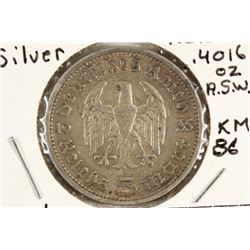 1935-A GERMAN SILVER 5 MARKS