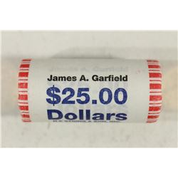 $25 ROLL OF 2011 JAMES A. GARFIELD PRESIDENTIAL $S