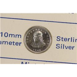 STERLING SILVER 10MM MINI COIN MINTED BY THE