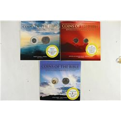 3-COINS OF THE BIBLE REPLICA COIN SETS AS SHOWN