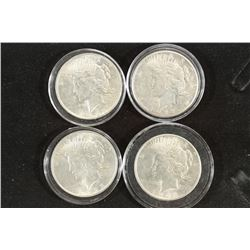 1922, 1922-S, 23 & 23-S PEACE SILVER DOLLARS