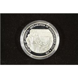 20 GRAM .999 FINE SILVER PROOF ROUND DECLARATION