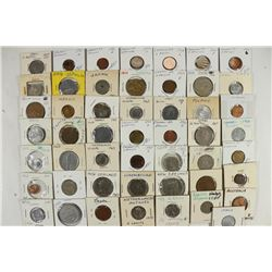 50 ASSORTED FOREIGN COINS OLD DEALER STOCK
