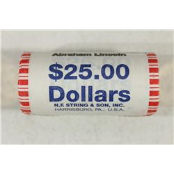 $25 ROLL OF 2010 ABRAHAM LINCOLN PRESIDENTIAL $'S