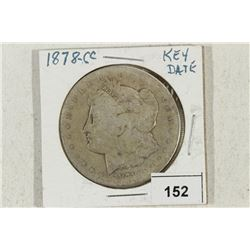 1878-CC MORGAN SILVER DOLLAR WITH SCRATCHES