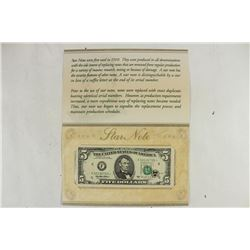 1995 $5 FRN STAR NOTE CRISP UNC