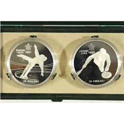1987 CANADA 2 COIN $20 PROOF SET FIGURE SKATING
