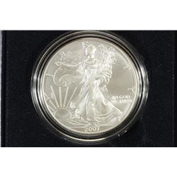 2007-W BURNISHED AMERICAN SILVER EAGLE
