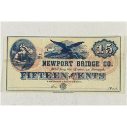 1800'S NEWPORT BRIDGE COMPANY 15 CENT OBSOLETE