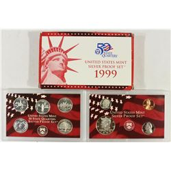1999 US SILVER PROOF SET (WITH BOX) ONE OF THE
