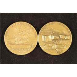 "2-1 1/2"" BRONZE MEDALS 1872-1972 NATIONAL PARKS"
