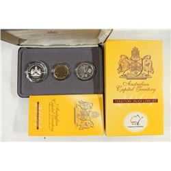 2001 AUSTRALIAN TERRITORY PROOF COIN SET 3 COINS