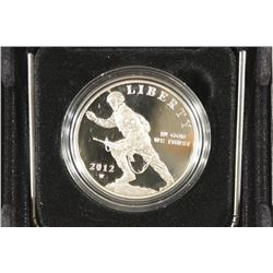 2012-W INFANTRY SOLDIER PROOF SILVER DOLLAR
