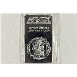 10 TROY OZ. .,999 FINE SILVER PROOF BAR APMEX