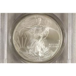 2006 AMERICAN SILVER EAGLE PCGS MS69 1ST STRIKE