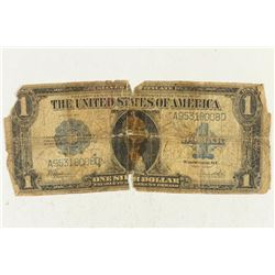 1923 LARGE SIZE $1 SILVER CERTIFICATE HORSE